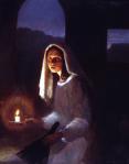"""""""A moeda perdida"""", pintura de J. Kirk Richards"""