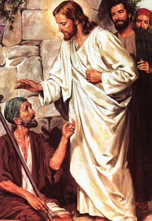 Jesus Healing Begger