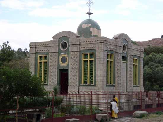 Igreja de Santa Maria de Sião, onde estaria localizada a Arca da Aliança.