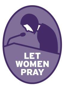 """Logo da campanha """"Deixe as Mulheres Orarem"""""""