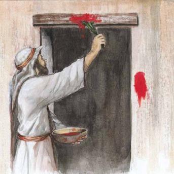 Encantação ritualística através de sacrifício animal para proteção contra o extermínio de crianças, comum em várias culturas Mediterrâneas