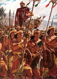 Cena do Livro de Mórmon, por Arnold Freiberg (2 000 guerreiros adolescentes Ameríndios)