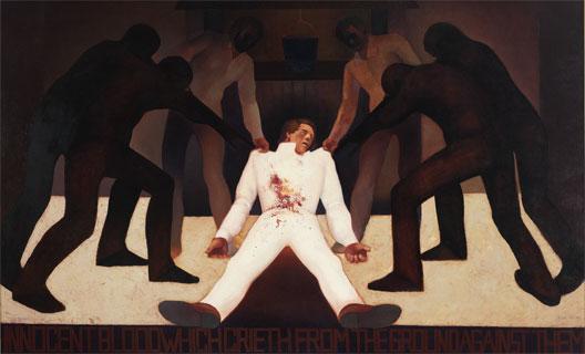 """""""Sangue inocente que clamará do chão contra eles"""", de Gary Ernest Smith, 1970."""