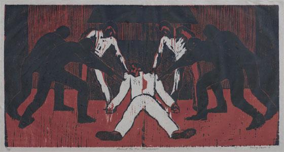 """""""Comoo um cordeiro ao matadouro"""", de Gary Ernest Smith, 1971."""