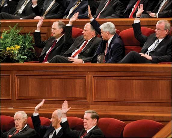 A votação numa Conferência Geral oferece uma oportunidade para membros da Igreja expressarem seu apoio aos líderes… ou sua oposição a eles.