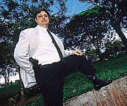 Moroni Torgan durante seu segundo mandato como deputado federal pelo PFL, em 1999. Foto: Ana Araújo/Veja.