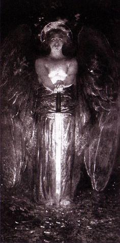 O anjo com a espada flamejante. Edwin Howland Blashfield, 1893.