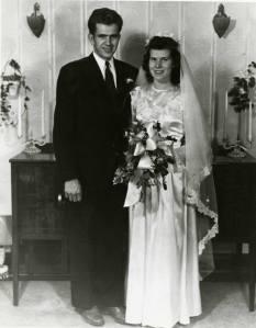 Boy e Donna Packer no Templo de Logan, 1947.