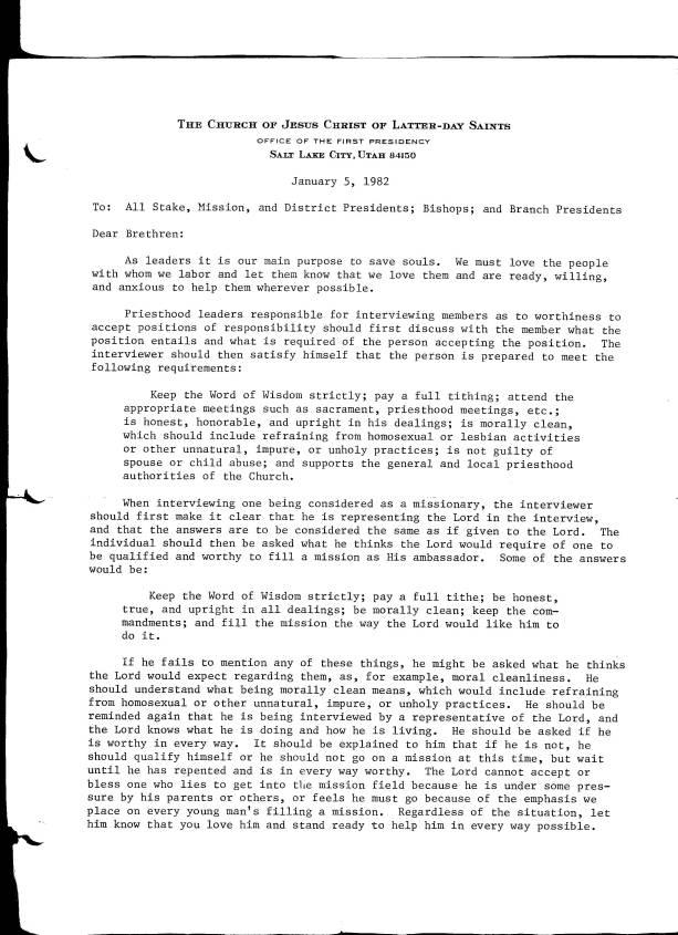 Lds oral sex 5 jan 1982