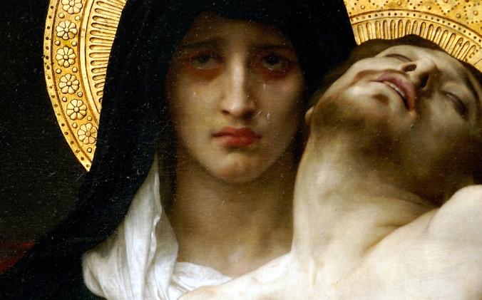 Pietà (1876) por William-Adolphe Bouguereau (1825-1905)