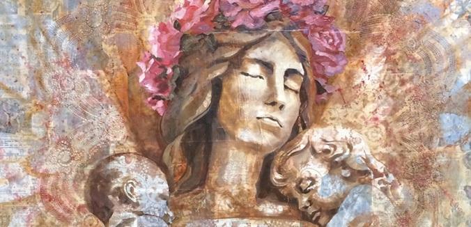 Arte SUD, Doutrina mórmon. O Amor de Uma Mãe, pintura de Lynde Mott (Exponent II). Mãe Celestial, Mormonismo.