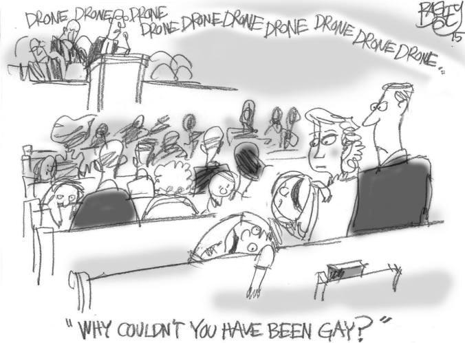 Pat Bagley. Cartunista mórmon. Humor. Gays. Igreja SUD. Mórmons. Mormonismo.