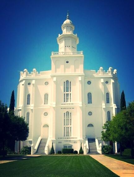 Templo de St. George. Mórmons.