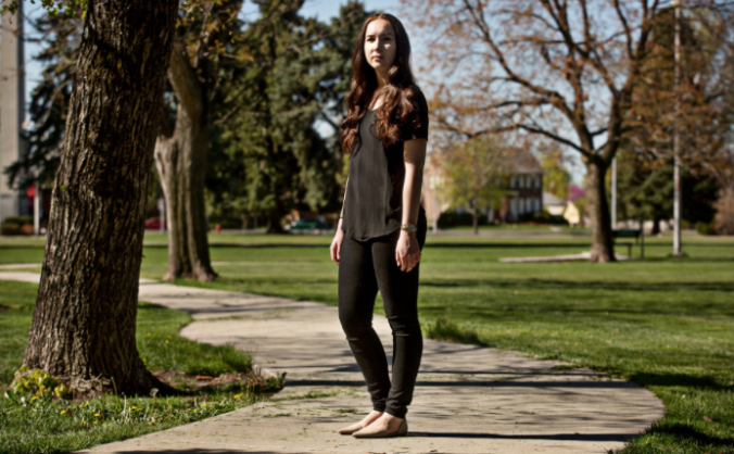 Madi Barney, 20, said she faced an Honor Code investigation after reporting to the Provo police that she had been raped. She has decided not to return to Brigham Young. Credit Kim Raff for The New York Times