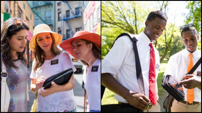 missionários mórmons roupas