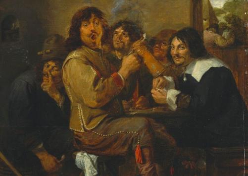 Os Fumadores, por Adriaen Brouwer (ca. 1605) Museu Metropolitano de Arte, NYC