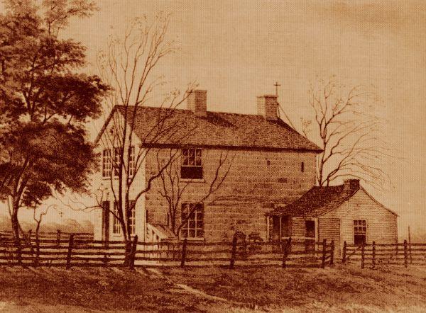 A prisão de Carthage, onde os irmãos Smith foram assassinados em 1844. Foto de 1885.