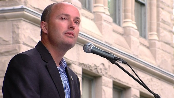 Vice-governador de Utah, Spencer Cox (Foto: KUTV)