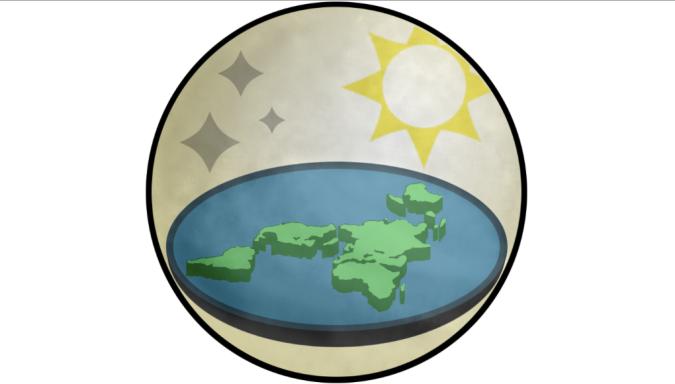 Logo oficial da Sociedade da Terra Plana