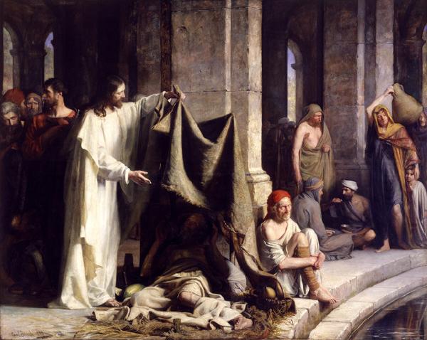 'Cristo Curando o Doente em Betesda' por Carl Heinrich Bloch (1883)