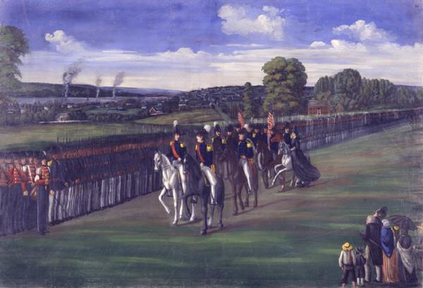 Legião de Nauvoo inspecionada pelo Tenente-General Joseph Smith, por C.C.A. Christensen