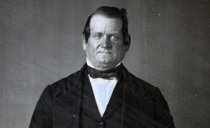 Orson Hyde Photograph, Marsena Cannon, circa 1852. (Church History Library, Salt Lake City.)