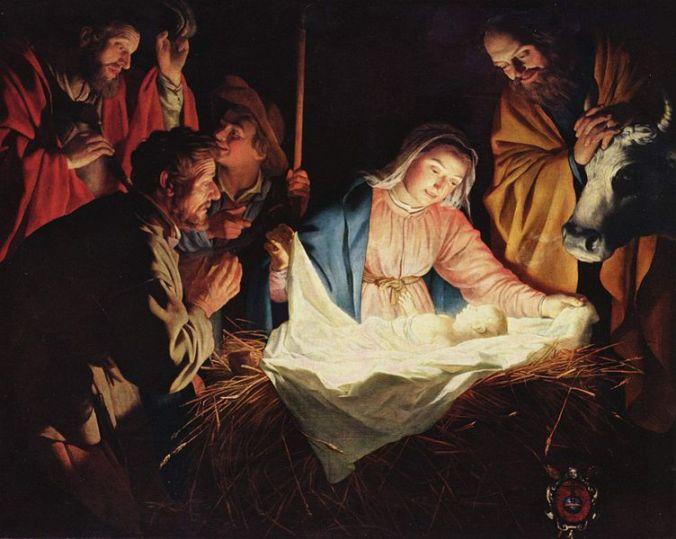 A Adoração dos Pastores, por Gerard van Honthorst (1590–1656), em 25 de dezembro de 1622
